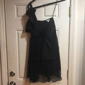 One shoulder Foley + Cprina black cocktail dress S